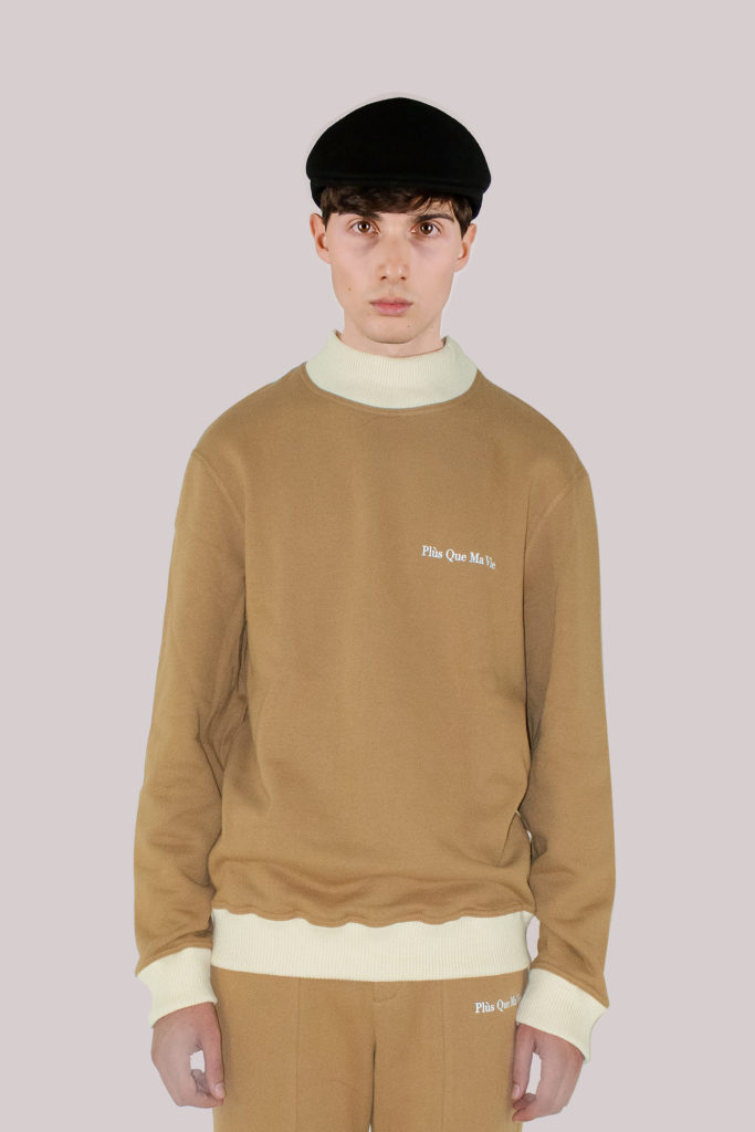 Beige Cotton Sweatshirt