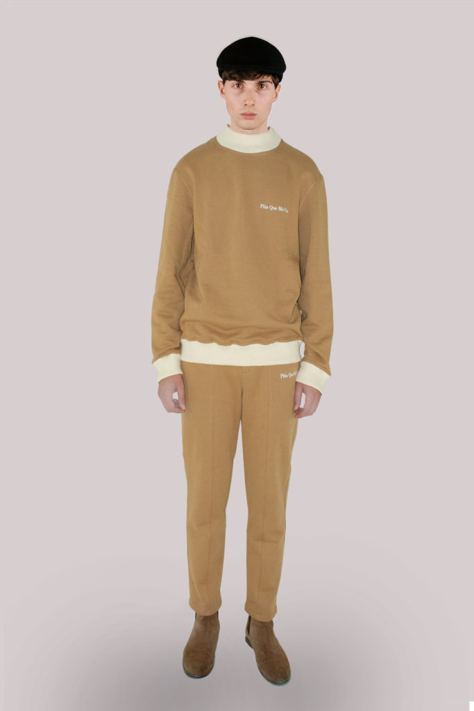 Beige Cotton Sweatpants