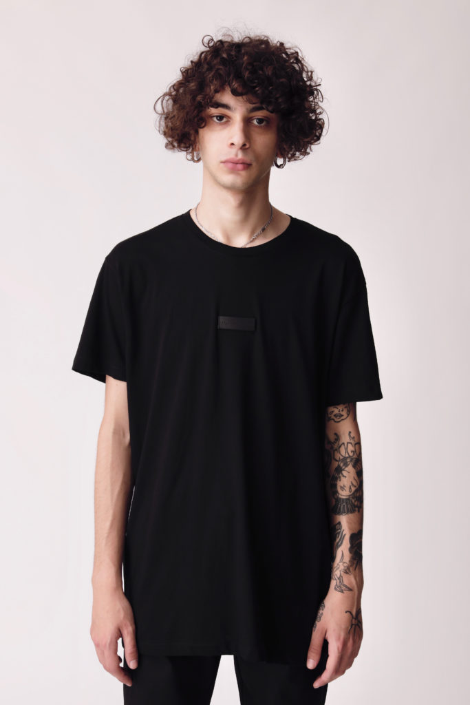 Black T-shirt With Patch